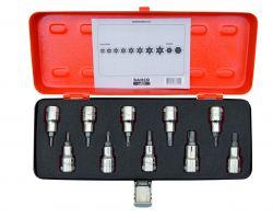 Bahco 7809TORX/10 Set of socket set drivers for TORX® and Phillips, 10 pcs